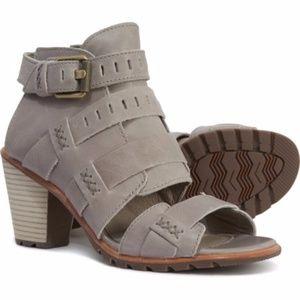 New Sorel Grey Nadia Buckle Sandals 8